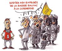 soutien aux expulsés de la barre Balzac à la Courneuve