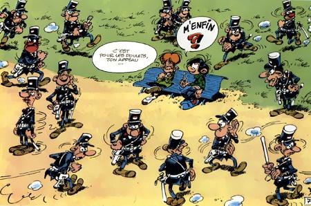 Gaston,appeau,Franquin,policier,poulet